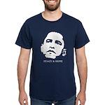 Obama 2008: Peace and Hope Dark T-Shirt