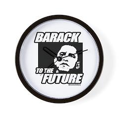 Barack to the future Wall Clock