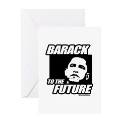 Barack to the future Greeting Card