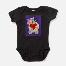 Cute Rhinoceros Baby Bodysuit