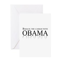 Barack the casbah with Obama Greeting Card