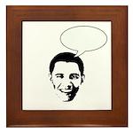 Obama (write in message) Framed Tile