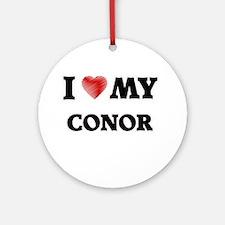 I love my Conor Round Ornament