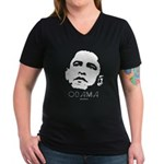 Barack Obama Women's V-Neck Dark T-Shirt