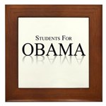 Students for Obama Framed Tile