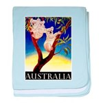 Australia Travel and Tourism Print baby blanket