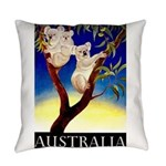 Australia Travel and Tourism Print Everyday Pillow