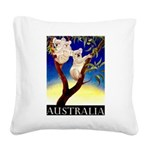 Australia Travel and Tourism Print Square Canvas P