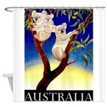 Australia Travel and Tourism Print Shower Curtain