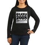 Barack Obama Women's Long Sleeve Dark T-Shirt