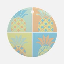 Pineapples Round Ornament