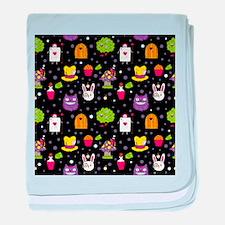 black Wonderland baby blanket
