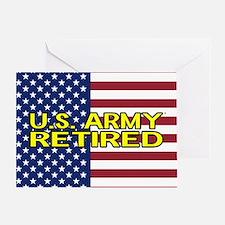 U.S. Army: Retired (American Flag) Greeting Cards