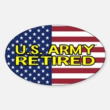 U.S. Army: Retired (American Flag) Decal