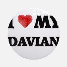 I love my Davian Round Ornament