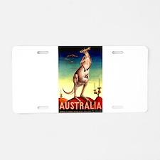 Cute Kangaroo Aluminum License Plate