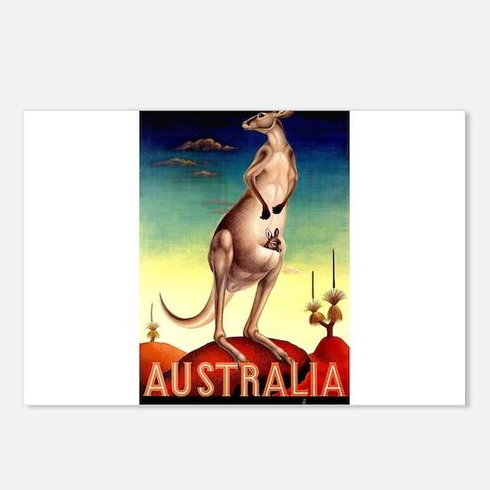 Cute Kangaroo prints Postcards (Package of 8)