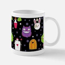 black Wonderland Mugs