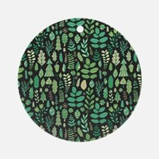 Forest Pattern Round Ornament