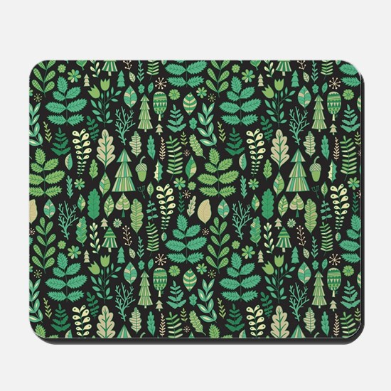 Forest Pattern Mousepad