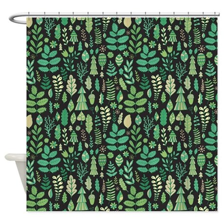 Forest Pattern Shower Curtain By FuzzyChair