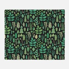 Forest Pattern Throw Blanket