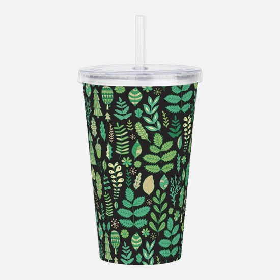 Forest Pattern Acrylic Double-wall Tumbler