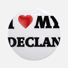 I love my Declan Round Ornament