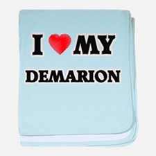 I love my Demarion baby blanket