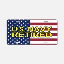 U.S. Navy: Retired (America Aluminum License Plate