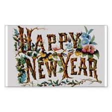 Happy New Year Rectangle Decal