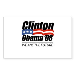Clinton/Obama '08: We are the future Decal