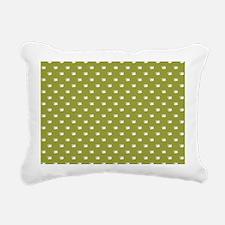 CUPS ON GREEN Rectangular Canvas Pillow