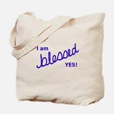 Blessed YES! Blue Tote Bag