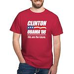 Clinton/Obama '08: We are the future Dark T-Shirt
