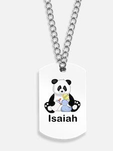 Isaiah's Little Panda Dog Tags