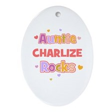 Charlize  Oval Ornament