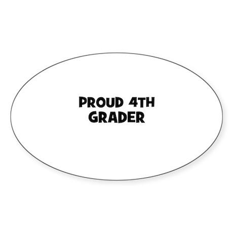 Proud 4th Grader Oval Sticker