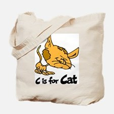 C is for Cat Tote Bag
