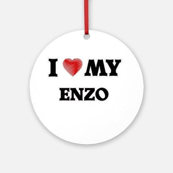 I love my Enzo Round Ornament