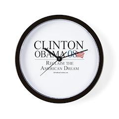 Clinton/Obama: Reclaim the American Dream Wall Clo