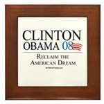 Clinton/Obama: Reclaim the American Dream Framed T