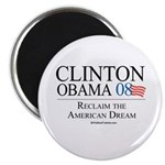 Clinton/Obama: Reclaim the American Dream Magnet