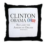Clinton/Obama: Reclaim the American Dream Throw Pi