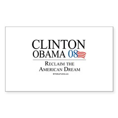 Clinton/Obama: Reclaim the American Dream Sticker