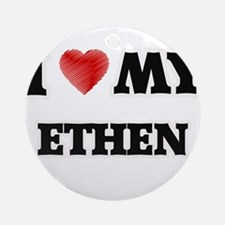I love my Ethen Round Ornament