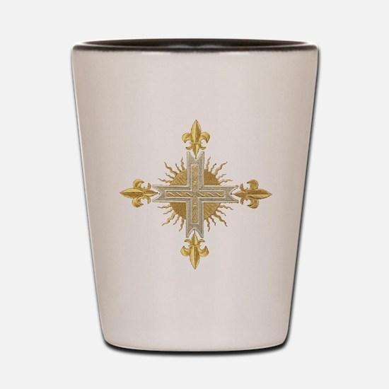 French Cross Shot Glass