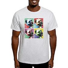Four Faces Bullmastiff T-Shirt