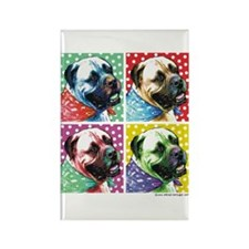 Four Faces Bullmastiff Rectangle Magnet