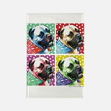 Four Faces Bullmastiff Rectangle Magnet (100 pack)